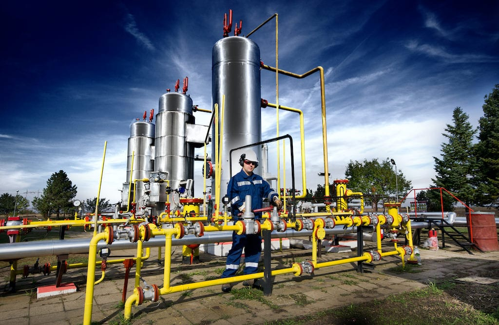 Gas Facility with Technician