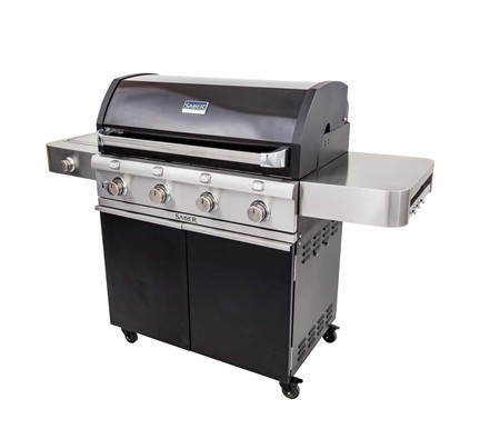 Deluxe Black Four Burner Gas Grill