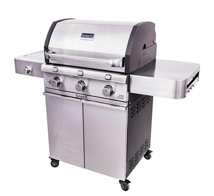 Deluxe Stainless Three Burner Gas Grill