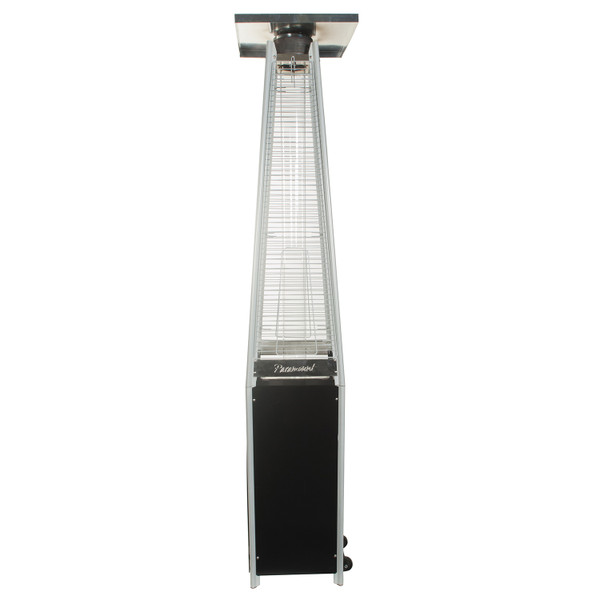 PARAMOUNT FLAME PATIO HEATER, BLACK AND SILVER
