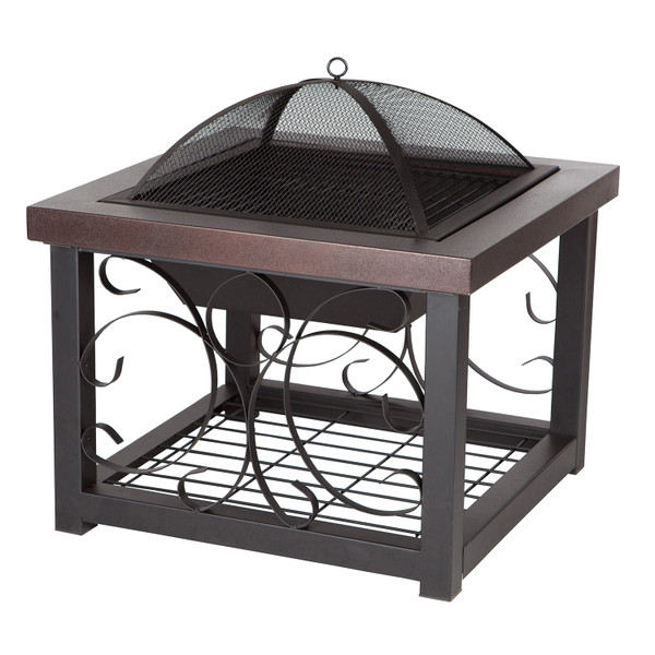 PARAMOUNT WOOD BURNING FIREPIT COFFEE TABLE