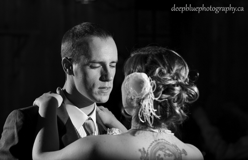 Photo of the Groom and Bride sharing first dance