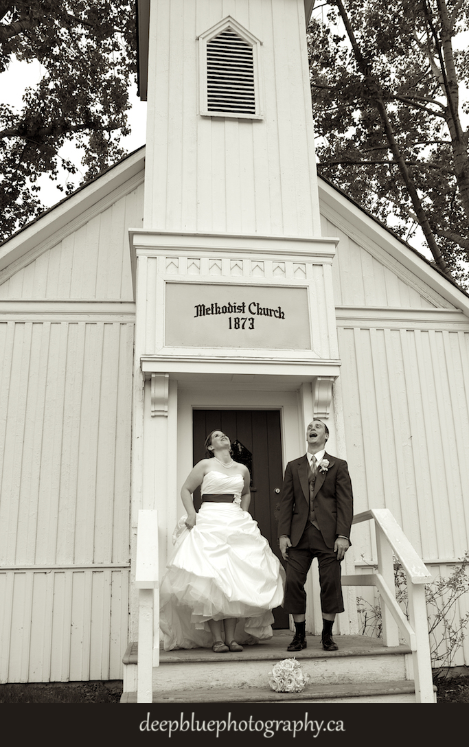 Rachel and Shaun at the Fort Church
