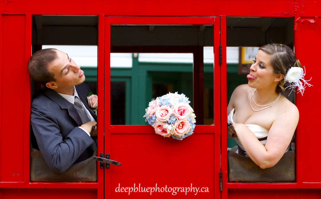 Goofy Face Portraits with the Bride and Groom