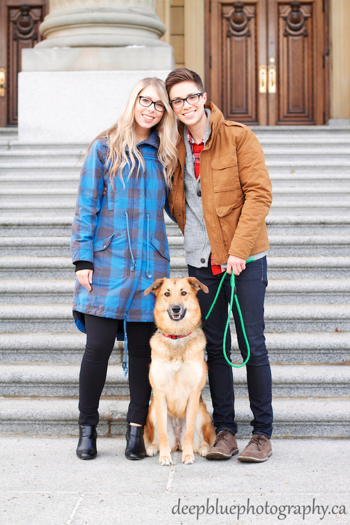 Jenny and Jamie with Their Dog