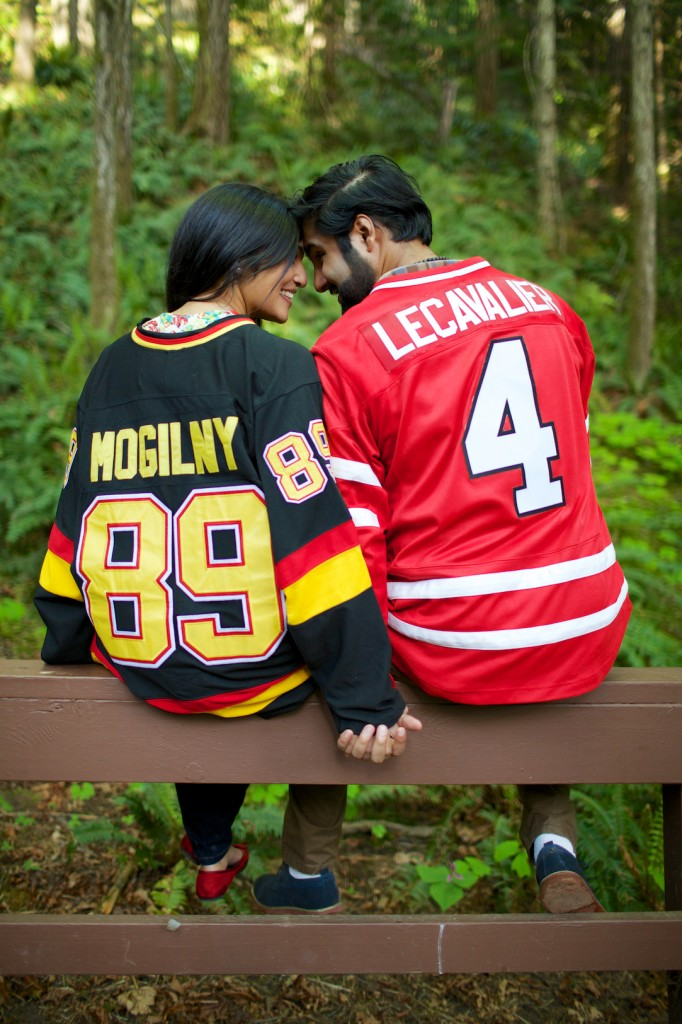 Hockey Theme Engagement Pictures in the blog post Preparing for Engagement Photos