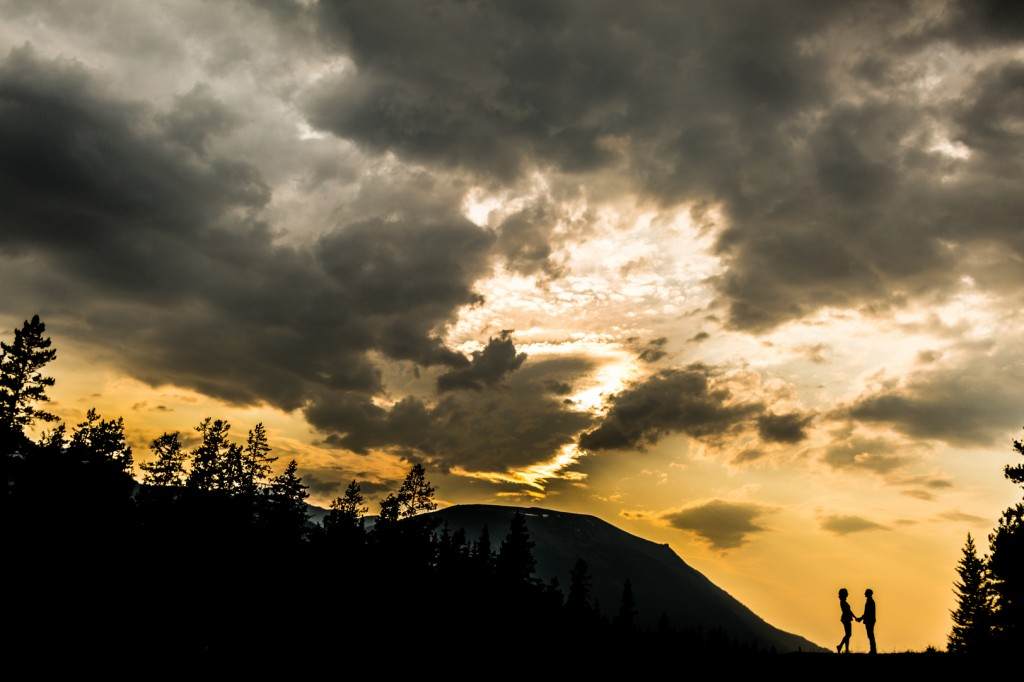 Jasper Engagement Photos - Sunset Along The Icefields Parkway