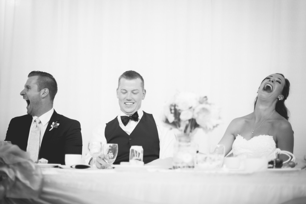 Photo of Bride and Groom at Head Table