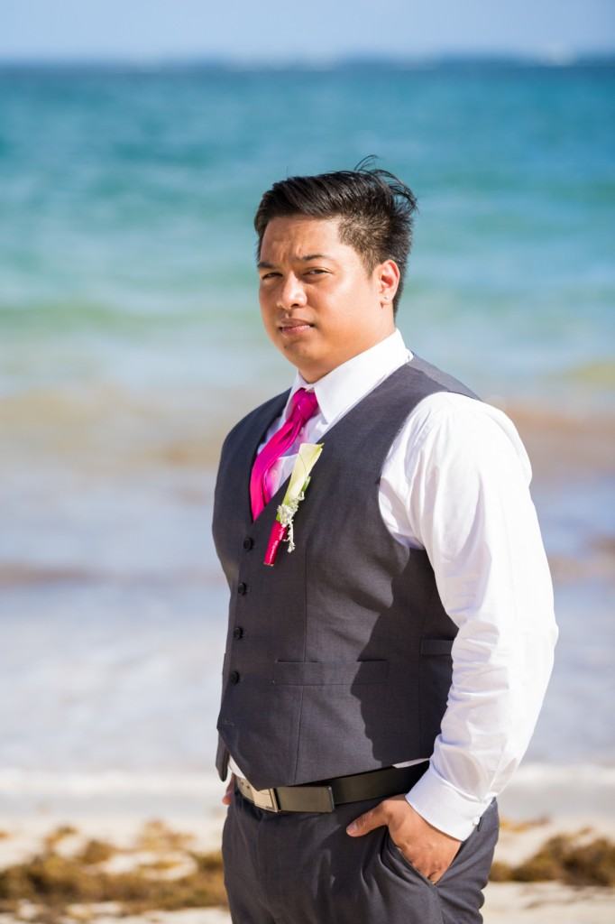 how to plan a destination wedding - grooms suit