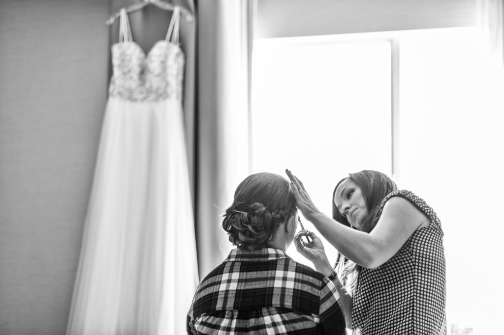 To Help Illustrate How Light On Your Wedding Day Is Important A Picture Of Bride Getting Ready By Window