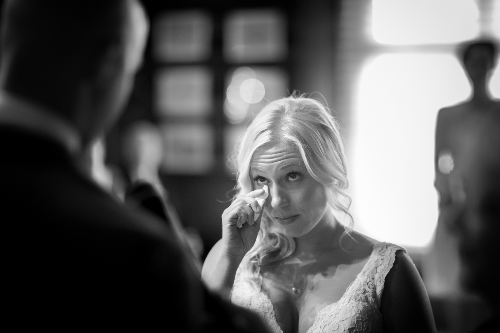 Photo of Bride Crying During Ceremony