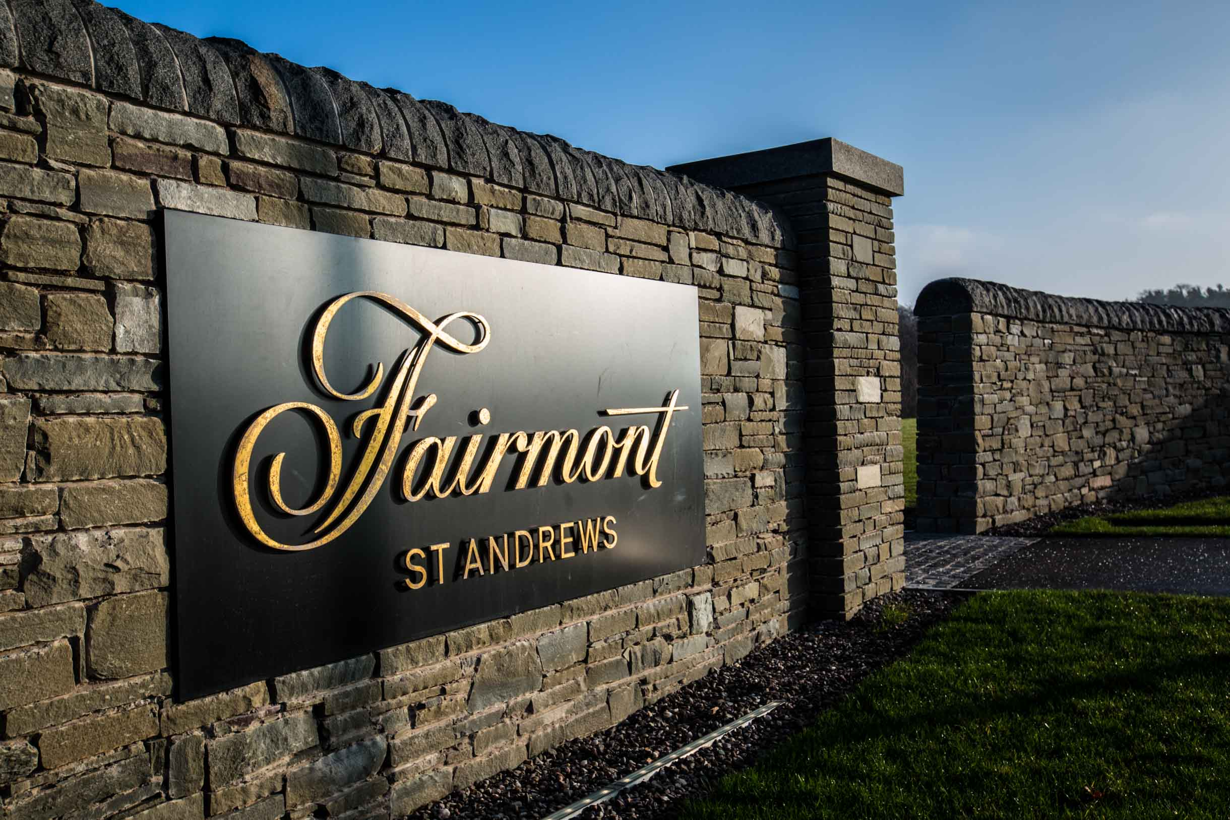 the fairmont St. Andrews sign