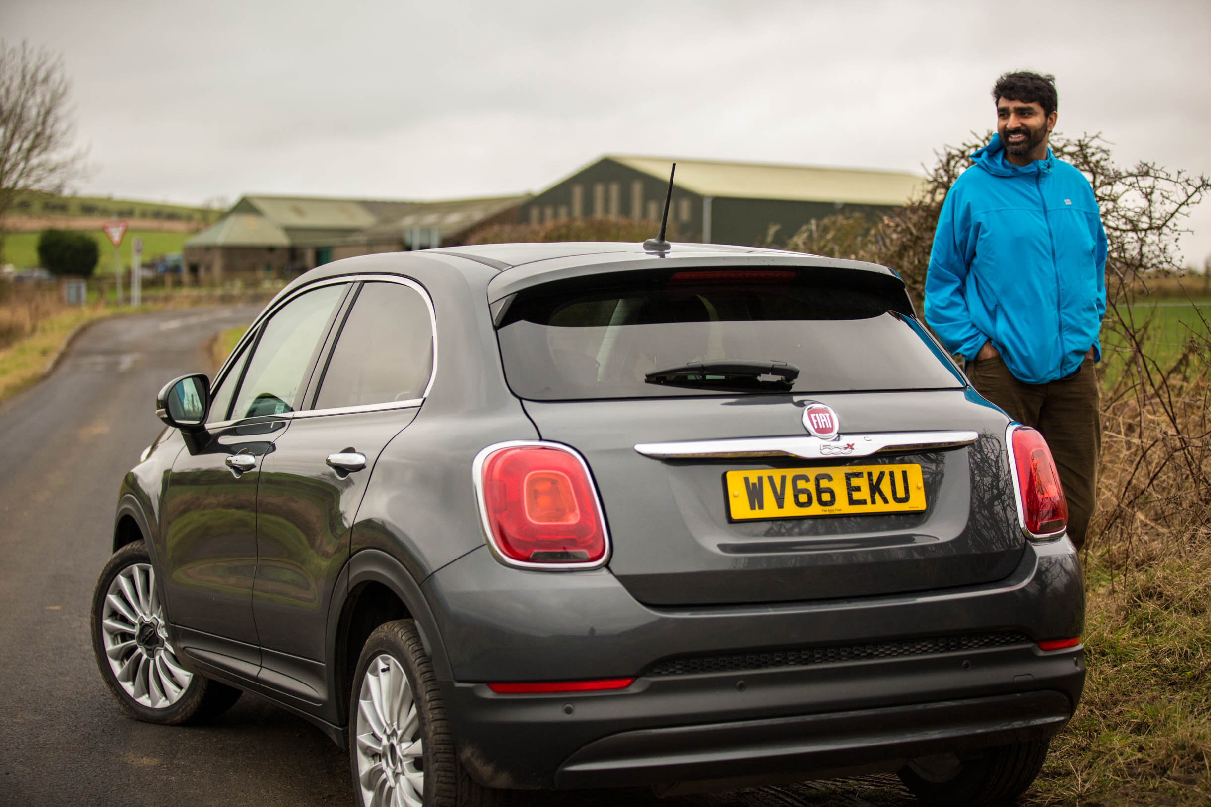 fiat 500x we rented to drive to St. Andrews