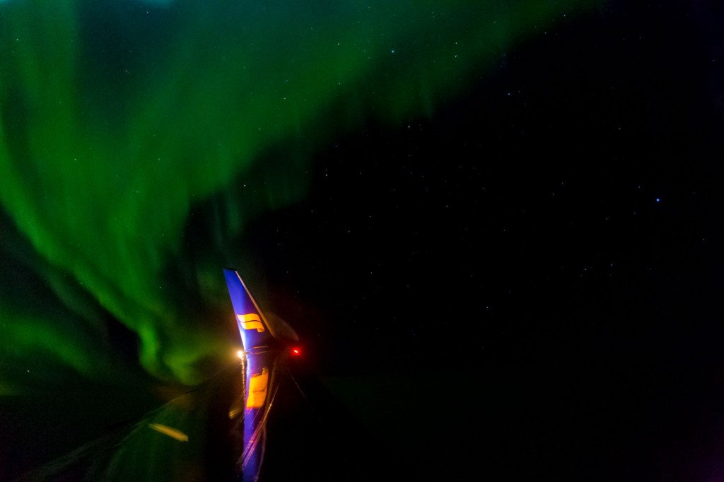 A picture of Icelandair northern lights - What to pack for iceland