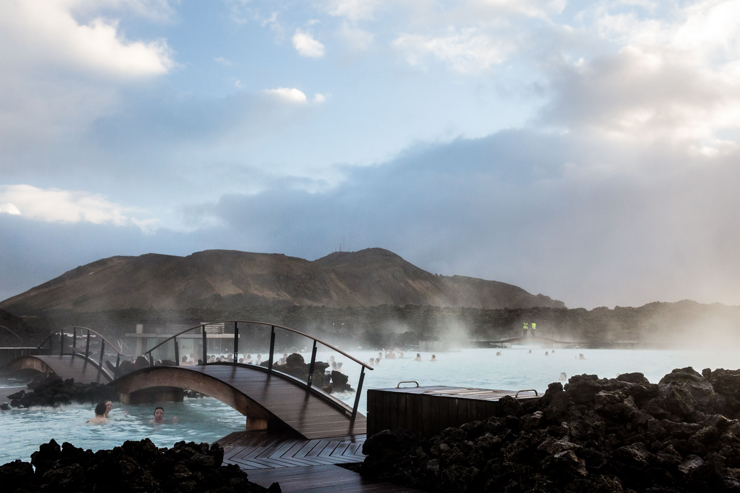 views of the blue lagoon iceland