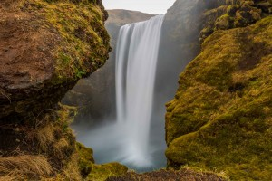 A picture of skogafoss waterfall iceland while exploring Southern Iceland Waterfalls