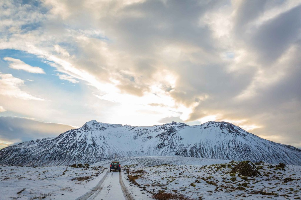 A Picture Of Winter Driving In Iceland