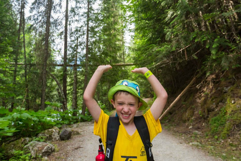 backpacking with kids to Kinney Lake in BC