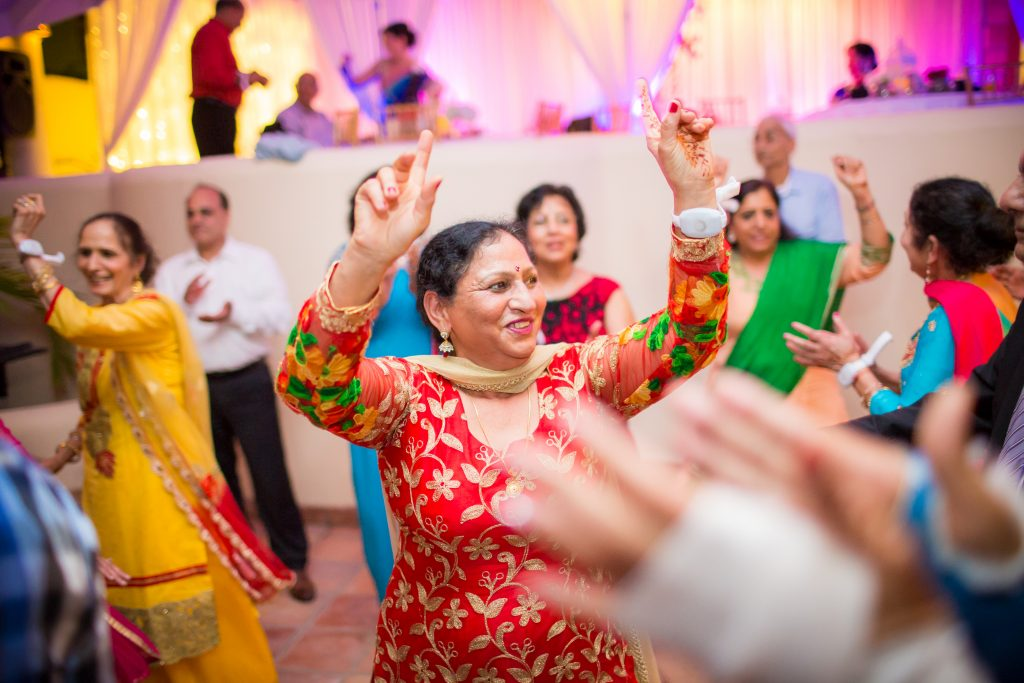 Indian wedding reception and dance in Antigua