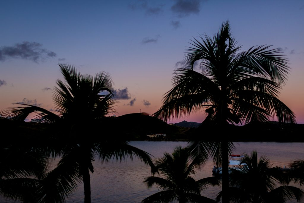 Sunrise on the morning of this beautiful destination wedding in Antigua