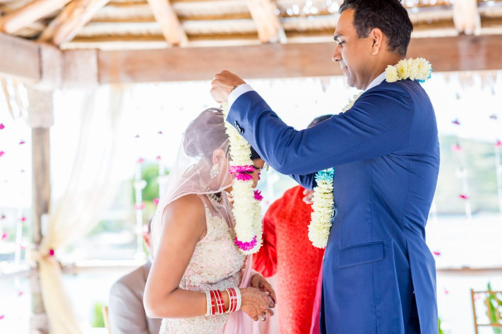 Indian destination wedding at the St James Club in Antigua