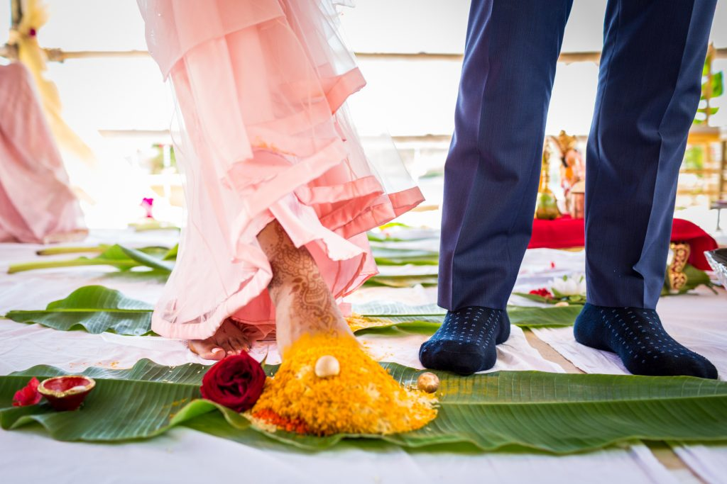 Colourful and vibrant Hindu destination wedding at St James Club in Antigua