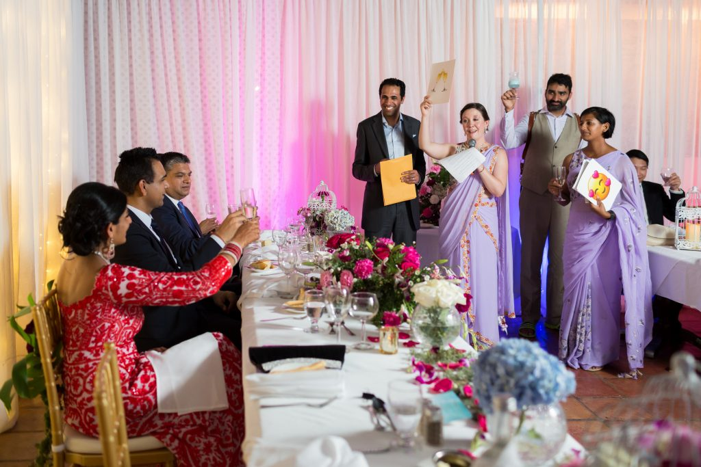 Wedding speech with emojis for the bride and groom during their wedding reception in Antigua