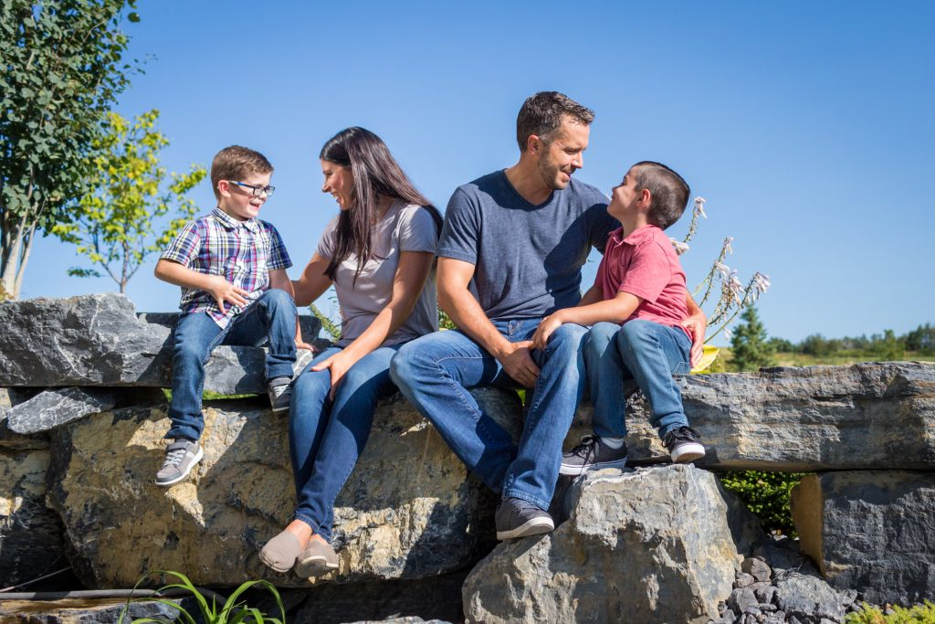 Outdoor Family Pictures at family home