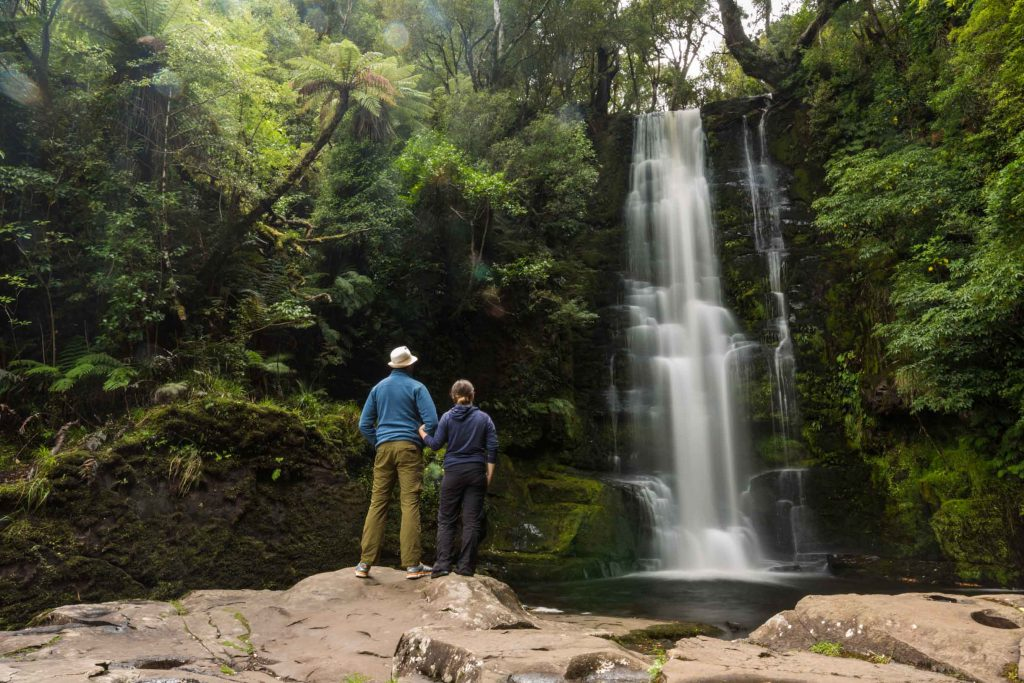 McLean Falls on the Tautuku River in Catlins Forest Park