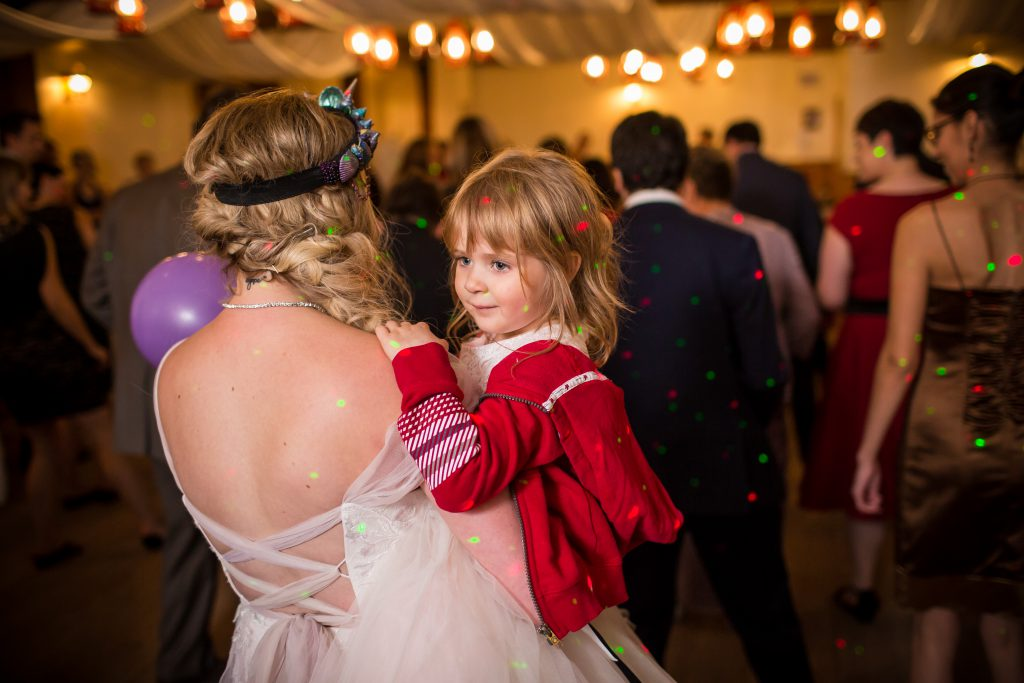 wedding dance with bride and daughter