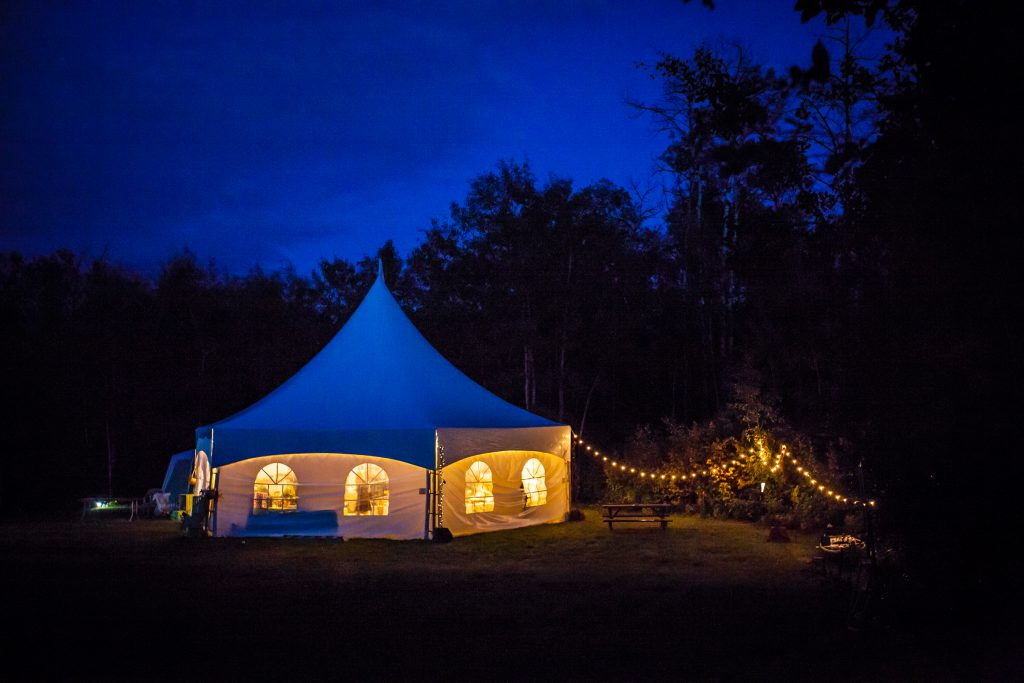 outdoor country wedding in a tent