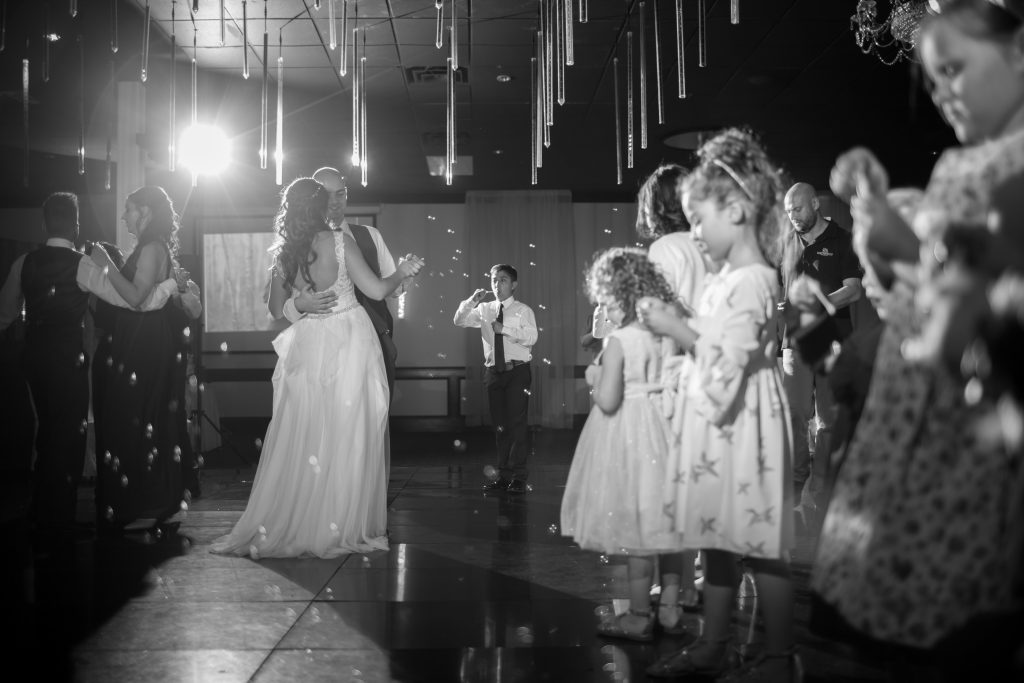 bubbles for first dance