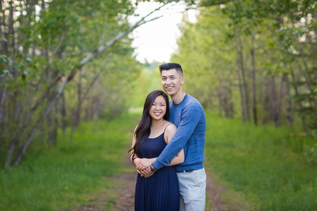 casual and elegant engagement photos