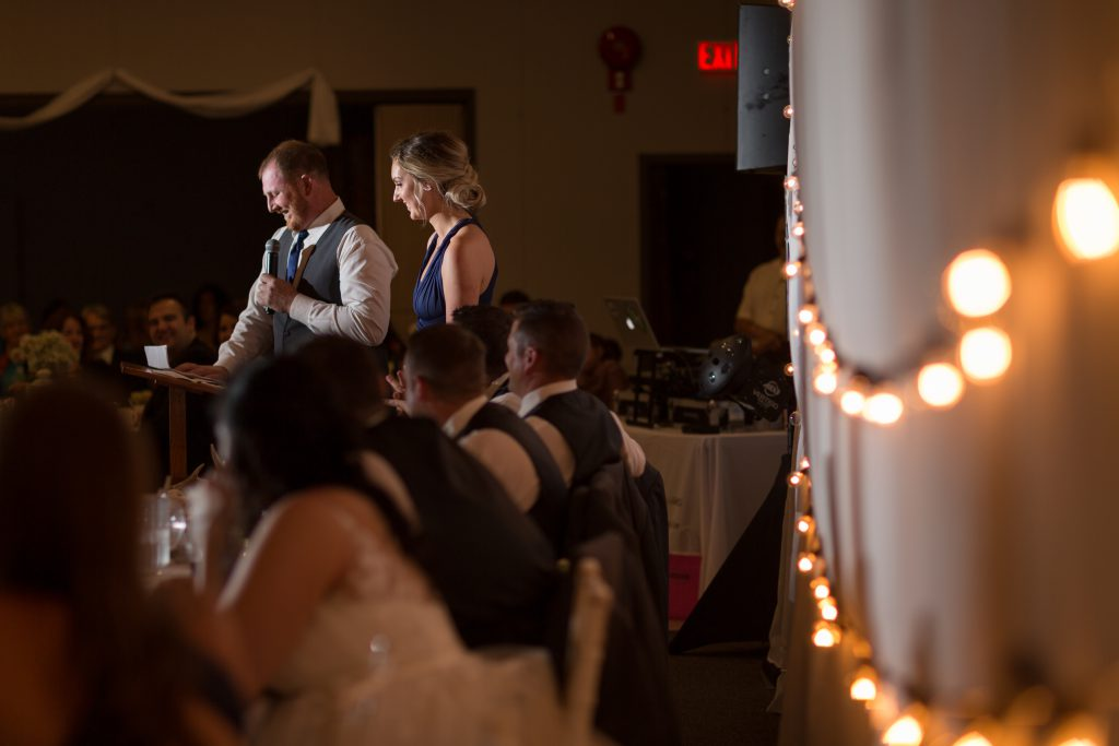 wedding party toast to bride and groom