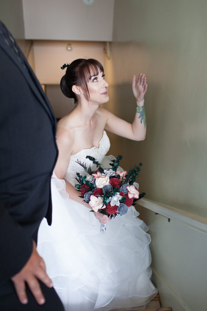 bride waiting for ceremony
