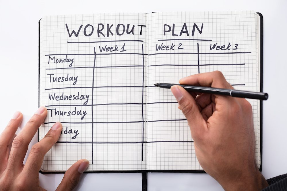 Start a Workout Plan and Exercise Schedule